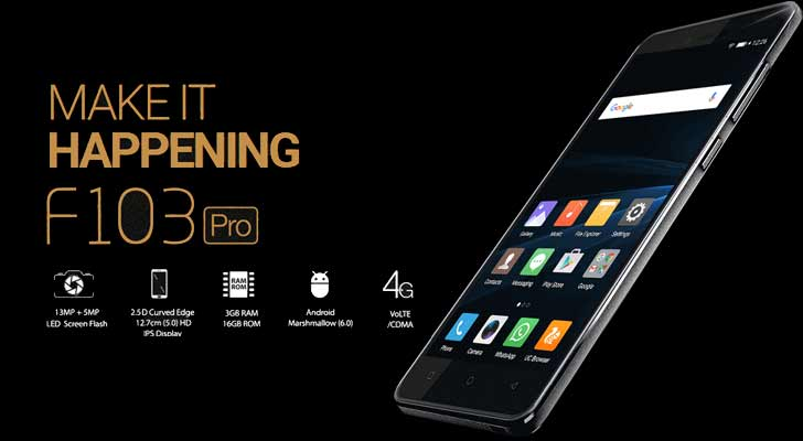Gionee F103 Pro (3GB,16GB) price in Pakistan - Telemart