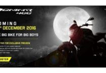Bajaj to launch the Dominar 400 on Dec 15