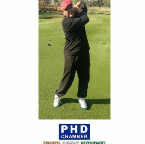 Gopal Jiwarajka - President PHD Chamber of Commerce inaugurating Pune Golf Tournament on Feb 25