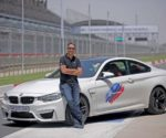 Vikram Pawah, President, BMW Group India with BMW M5 at BMW M Performance Training Program