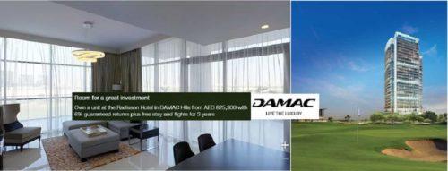 Radisson-branded property worldwide located on a golf course, the Trump International Golf Club Dubai
