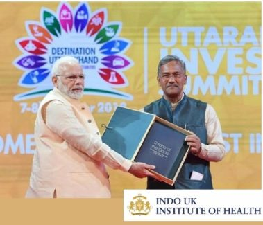 Prime Minister Shri Narendra Modi and Chief Minister of Uttarakhand Shri Trivendra Singh Rawat at Destination Uttarakhand: Investors' Summit 2018