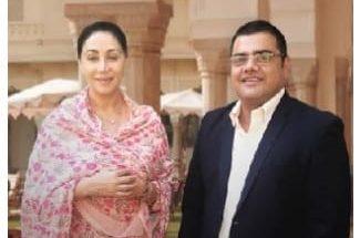 Princess Diya Kumari of Jaipur with Ravi Santlani, CEO, ScooNews