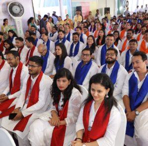 Graduating batch dressed in Ethnic Attire