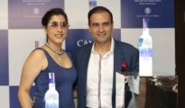 Isha Chawla and Pranav Chawla at the launch event of Canvas Vodka