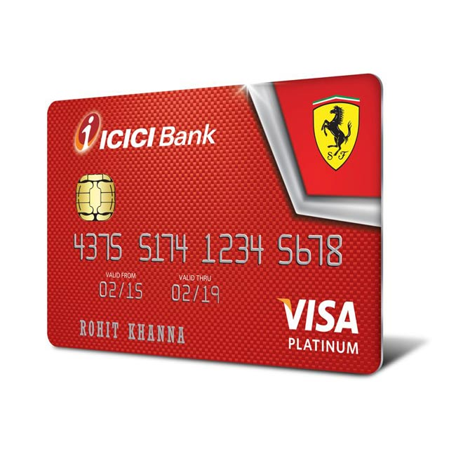 Icici bank launches ferrari range of credit cards estrade india icici bank launches ferrari range of credit cards reheart Images