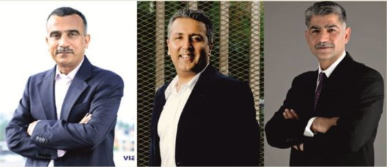 (L-R) - Sudhanshu Vats, Group CEO, Viacom18, Gaurav Gandhi, COO, Viacom18 Digital Ventures, Siddharth Jain, Senior VP and MD, South Asia, for Turner India