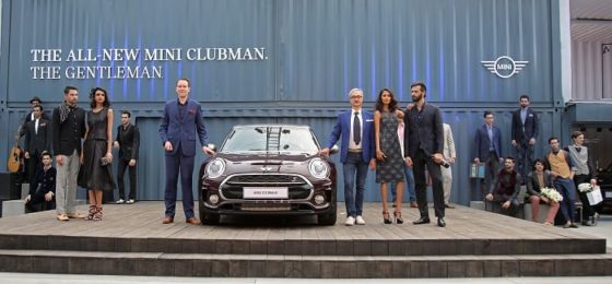 Mr. Frank Schloeder, President (act), BMW Group India and Fashion Designer Ravi Bajaj with the all-new MINI Clubman