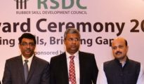 Rajesh Agarwal, Jt Sec Ministry of Skill Development alongwith Manish Kumar, MD & CEO NSDC and Vinod Simon Chairman RSDC recently