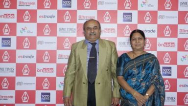 Dr. Mallikarjun G Hiremath - Principal and Ex-Officio Secretary of Karnataka Law Society's Gogte College of Commerce, and his wife Mrs. Hiremath