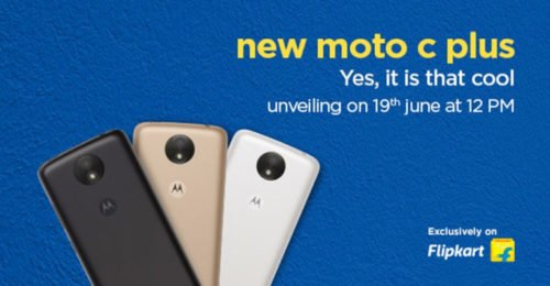 Motorola Moto C Plus exclusively on Flipkart