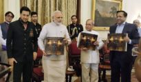 PM Modi Released Coffee Table Book & Presented the First Copy to President of India