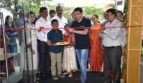 Ashish Shah, COO and Founder, Pepperfry inaugurates the first Franchise Studio at HSR Layout with P K Ramesh, Nagendra Kaushik and A R Ramaprasad, Partners, Prakruthi Enterprises