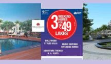 The properties include a Bollywood-style villa at Wollywood, music-themed apartment at City of Music and an Adventure NA plot at Break the Routine Malshej