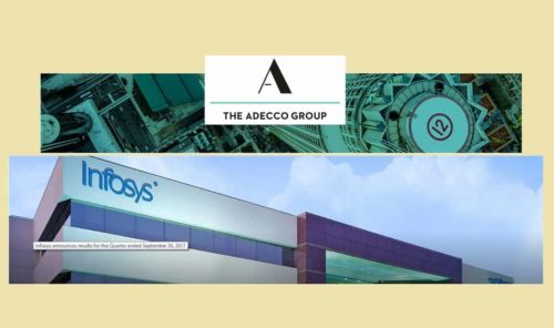 The Adecco Group is the world's leading provider of workforce solutions, transforming the world of work through talent and technology.  | Infosys is a global leader in technology services and consulting. We enable clients in 45 countries to create and execute strategies for their digital transformation.
