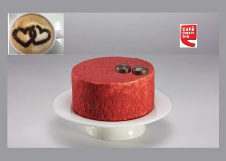 Café Coffee Day is having a special offering for Valentine's Day. They have introduced Red Velvet Valentine's cake exclusively for Valentine's Day that one can pre-order at a CCD outlet and have it delivered at their door step, or do a takeaway from the café on 13th and 14th February. Additionally, all those who order a coffee will get to enjoy a special heart stencil for latte art on their coffees on these two days.