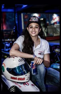 Racing Sensation MIRA ERDA at the launch of RED BULL KART FIGHT