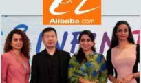 L to R: Ms. Kangana Ranaut, India Actress, Mr. Shunyan Zhu, President of UC, Alibaba Digital Media and Entertainment Group, Ms. Shaina NC, Fashion Designer & Social Worker & Ms. Gul Panag, Indian actress and Founder of Col. Shamsher Singh Foundation