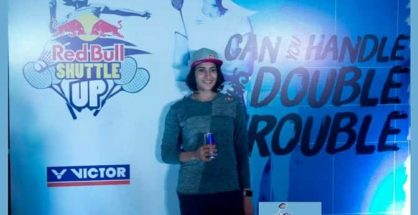 Red Bull Athlete Ashwini Ponnappa at the Red Bull Shuttle Up Launch PC in Hyderabad