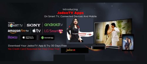 JadooTV is a consumer technology and entertainment services company based in Silicon Valley, committed to delivering Live and On-Demand content to viewers via its proprietary Internet based set-top box (STB) and Smart TV, Connected Devices and Mobile Apps.