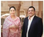 Princess Diya Kumari of Jaipur with Ravi Santlani, CEO, ScooNews