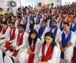 Graduating batch dressed in Ethnic Attire