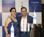 Isha Chawla and Pranav Chawla at the launch event of Canvas Vodka
