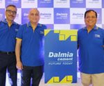 (R-L)- Mr. Mahendra Singhi, MD & CEO, Dalmia Cement (Bharat) Limited, Mr. Ujjwal Batria, Chief Operating Officer, Dalmia Cement (Bharat) Limited and Mr. Pramesh Arya, Executive Director, Marketing, Dalmia Cement (Bharat) Limited.