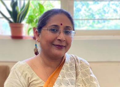 Damayanti Bhattacharya - Principal of Jasudben ML School